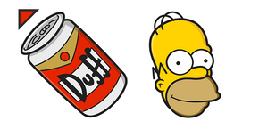 The Simpsons Homer Duff Curseur