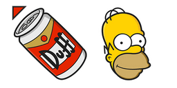The Simpsons Homer Duff Cursor