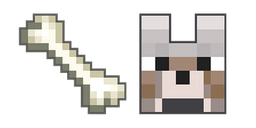 Minecraft Bone and Wolf Cursor