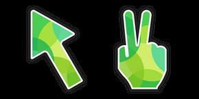 Green Victory Hand Cursor