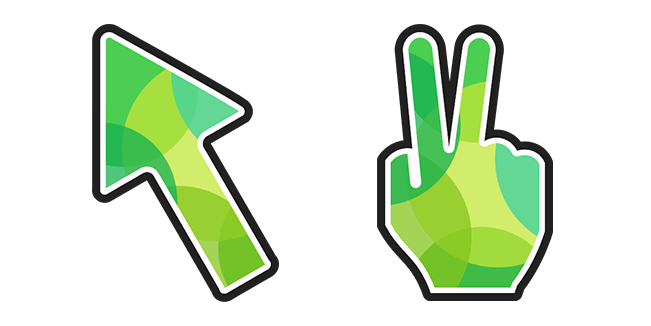 Green Victory Hand
