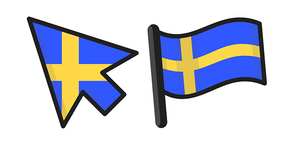 Sweden Flag Cursor
