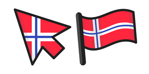Norway Flag Curseur