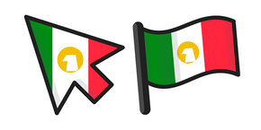 Mexico Flag Cursor