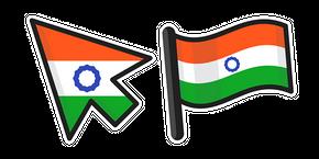 India Flag Curseur