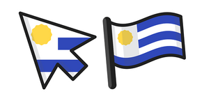 Uruguay Flag Curseur