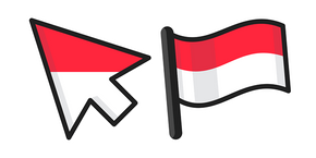 Indonesia Flag Curseur