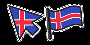 Iceland Flag Curseur