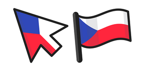 Курсор Czech Republic Flag