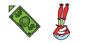 SpongeBob Mr. Krabs Dollar Cursor