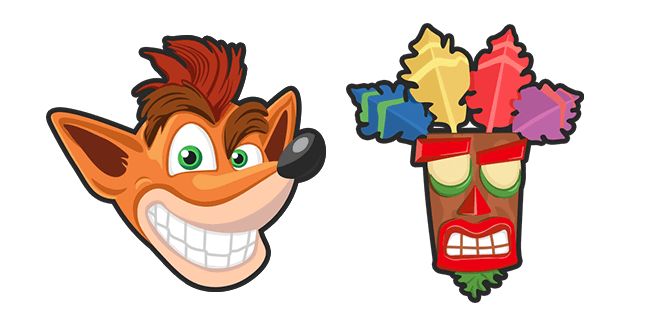 Crash Bandicoot and Aku Aku Mask