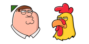 Family Guy Peter Griffin and Ernie Curseur