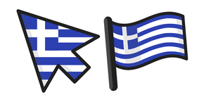 Greece Flag Curseur