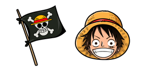 One Piece Monkey D Luffy Flag Curseur