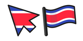 Costa Rica Flag Cursor