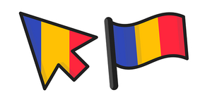Romania Flag Cursor