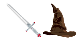 Harry Potter Sorting Hat and Gryffindors Sword Curseur