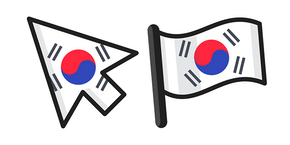 South Korea Flag Curseur
