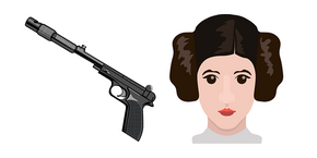 Star Wars Princess Leia Blaster Cursor