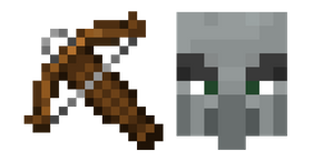 Minecraft Crossbow and Pillager Curseur