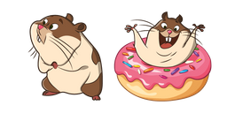 Cute Hamster with Donut Cursor