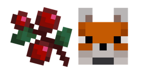 Minecraft Sweet Berries and Fox Cursor