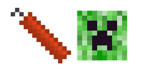 Minecraft Stick of TNT and Creeper Cursor
