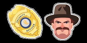 Курсор Stranger Things Chief Hopper Badge