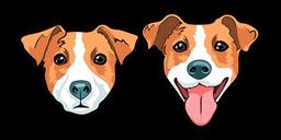 Cute Jack Russell Terrier Dog Cursor