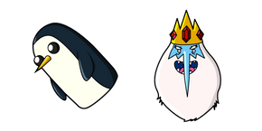 Курсор Adventure Time Ice King and Gunter