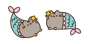 Mermaid Pusheen Curseur