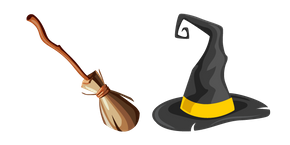Курсор Witch Broom and Hat
