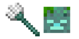 Minecraft Trident and Drowned Cursor