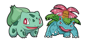Pokemon Bulbasaur and Venusaur