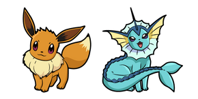 Pokemon Eevee and Vaporeon Cursor