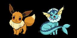 Pokemon Eevee and Vaporeon Curseur