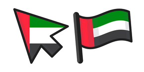United Arab Emirates Flag Curseur