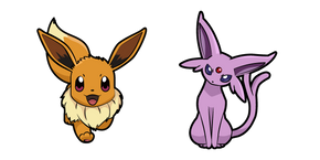 Pokemon Eevee and Espeon Curseur