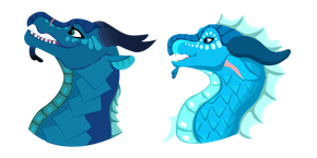 Wings of Fire Riptide and Princess Tsunami Cursor