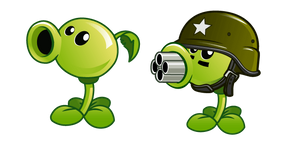 Plants vs. Zombies Peashooter and Gatling Pea Cursor