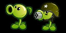 Plants vs. Zombies Peashooter and Gatling Pea Cursor