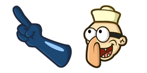 SpongeBob Barnacle Boy Blue Glove Cursor