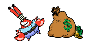 SpongeBob Mr Krabs Money Bag Curseur