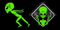 Area 51 Alien Naruto Run Curseur