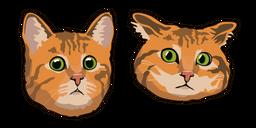 Confused Red Cat Curseur