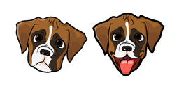 Cute Boxer Puppy Cursor
