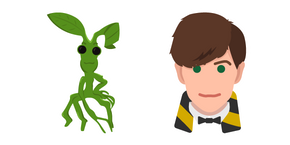 Harry Potter Newt Scamander and Pickett Cursor