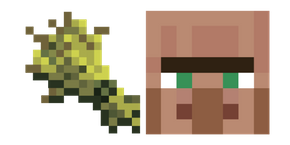 Minecraft Wheat and Villager Curseur
